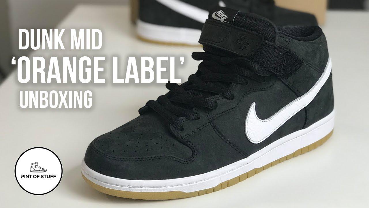 Nike SB Black Dunk Mid 'Orange Label