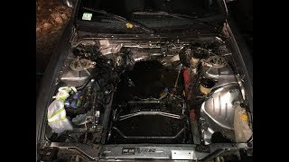 Project 240sx Engine Bay Cleaning: Battery Tray Removal And Degreased engine bay