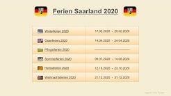 Ferien Saarland 2020 - Termine Schulferien