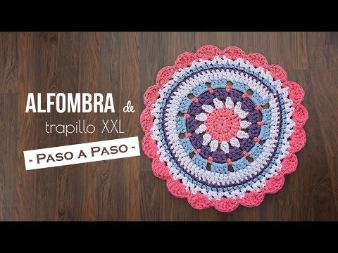 Alfombra de trapillo xxl paso a paso youtube - Tutorial alfombra trapillo ...