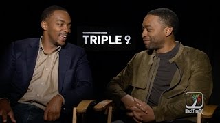 Triple 9 Actors Chiwetel Ejiofor and Anthony Mackie talk British vs American Actors