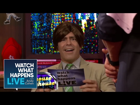 Vanessa Hudgens and Kellen Lutz Reenact HSM 2 with Andy as Zac Efron | WWHL