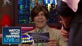 Vanessa Hudgens and Kellen Lutz Reenact HSM 2 with Andy as Zac Efron - WWHL