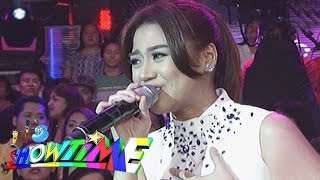 "It's Showtime: Morisette sings ""Nothing's Gonna Stop Us Now"""