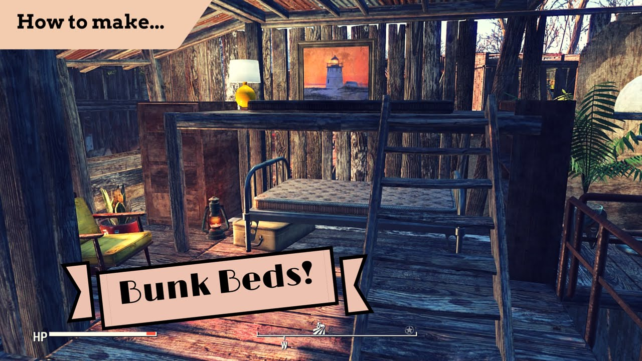 Fallout 4 How To Make Advanced Bunk Beds