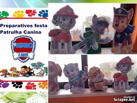 COMO FAZER DISPLAYS OU TOTENS DE MESA PATRULHA CANINA PEDRO#FAZ 4