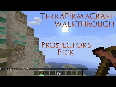TerraFirmaCraft Walkthrough - How to Find Ores with Prospector's Pick