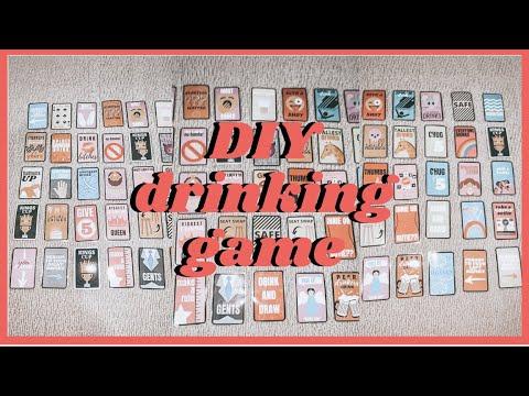 Diy Drinking Card Game Youtube