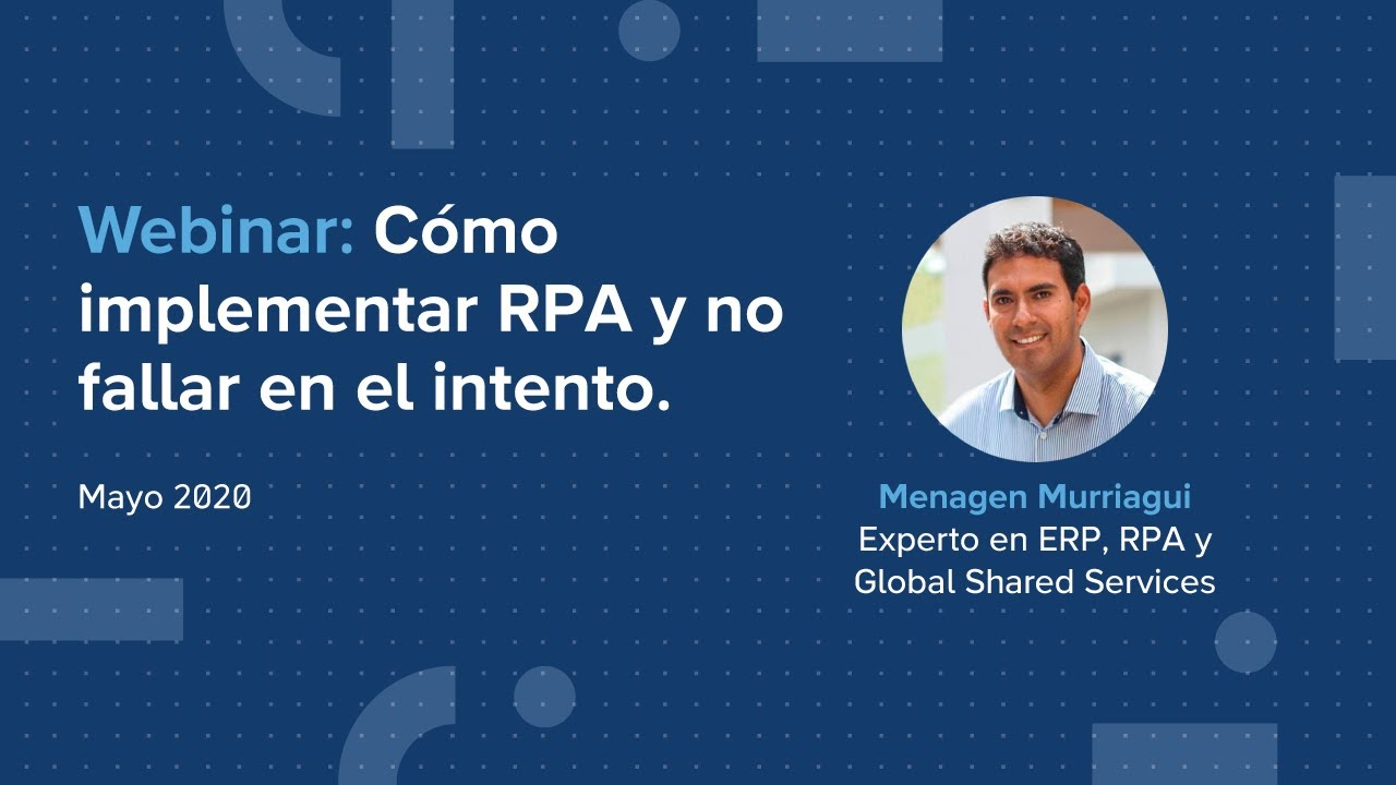 🎯 Innovativa EN VIVO: Cómo implementar RPA y no fallar en el intento.