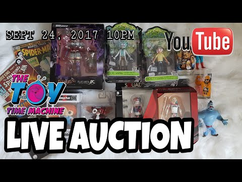 LIVE AUCTION SEPT 24, 2017 @10PM : THE TOY TIME MACHINE