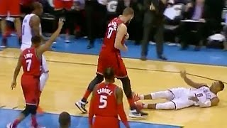 Russell Westbrook Tries to Get Away with Embarrassing Flop