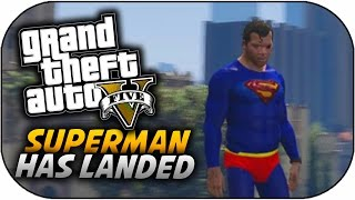 GTA 5 Superman Character - New Supeman Skin & Powers Mod (GTA 5 PC Mods)