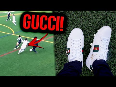 Playing football in *GUCCI SHOES* WITH