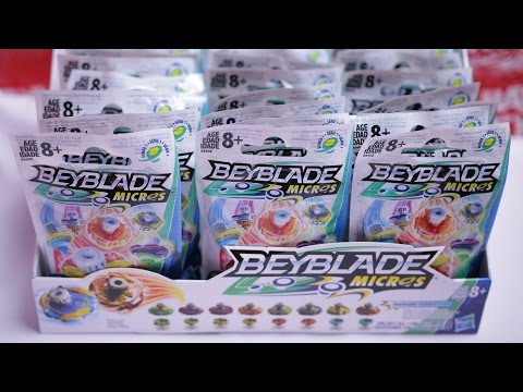 Beyblade Burst Micros Unboxing 24 Packs Mystery Box Series 1