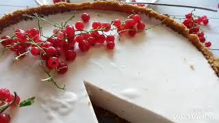 Чизкейк без выпечки со смородиной/летний десерт