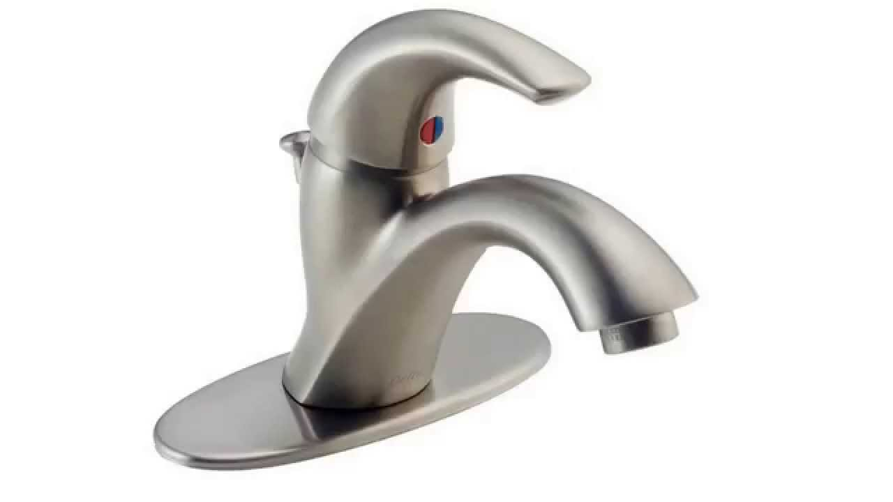 Delta 583LF SSWF C Spouts Single Handle Centerset Lavatory Faucet ...