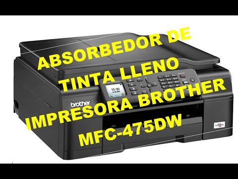 IMPRESORA BROTHER ABSORBEDOR DE TINTA LLENO SOLUCION, ERROR 46, ESPONJAS, MFC-J475DW, MFC-J485DW