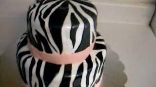 Zebra And Poka Dot Cake 3-6-2010.wmv