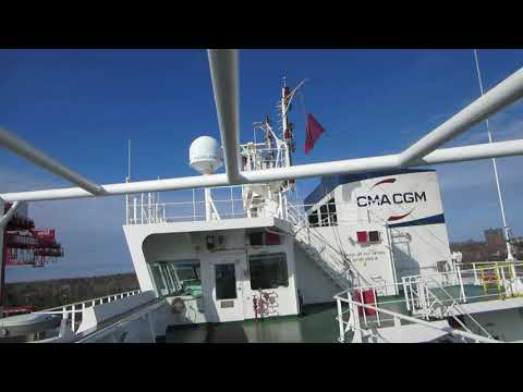 CMA CGM Fidelio Container Ship Bridge Tour