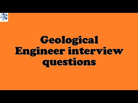 Geological Engineer interview questions
