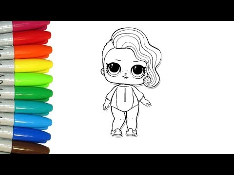 Como Dibujar Y Pintar A Surfer Babe De Lol Surprise Para Niños
