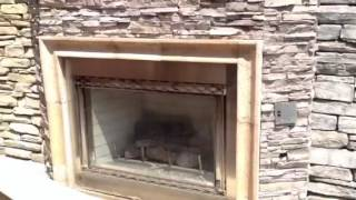 Travertine Fireplace Mantel Surround
