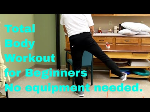 Total Body Workout for Beginners-No Equipment Needed.