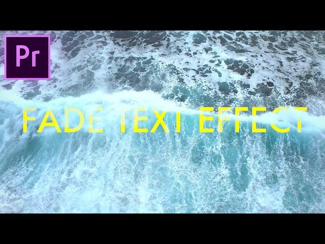 Blended VIDEO & TEXT Animation Effect - Adobe Premiere Pro (CC 2017 How To Tutorial) Luma Fade Wipe