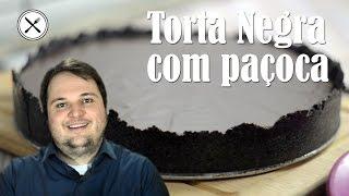 Torta Negra Com Paçoca - Vou Cozinhar