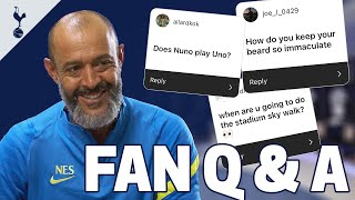 Does Nuno play Uno? How does he keep his beard so immaculate? 🤔 Nuno answers YOUR questions!