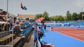 Open de Tenis Villa de El Espinar 2013 Enfado Chiudinelli con un línea 2/8/2013 (2)
