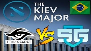 SG e-sports vs Team Secret - NARRAÇÃO EM PORTUGUÊS - Kiev Major - Dota 2
