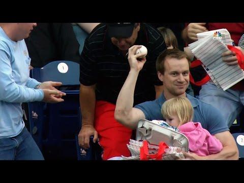 MLB Fan Catches