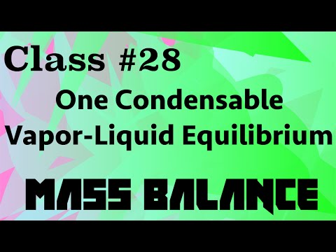 One Condensable Vapor-Liquid System // Mass Balance Class 28