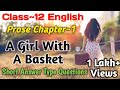 Class 12 English Prose Chapter 1 A Girl With A Basket Question & Answer (1)
