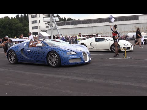 bugatti veyron grand sport vs. bugatti veyron grand sport - 1/4 mile