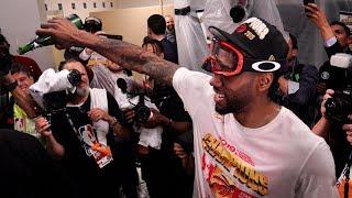 Inside the Toronto Raptors locker-room celebration