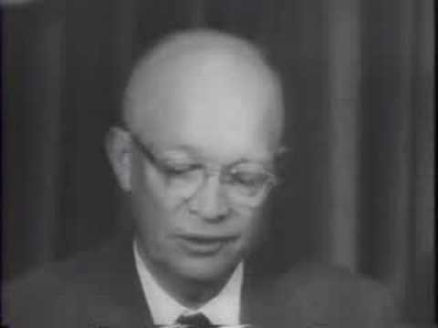 Eisenhower Denies US Lag In Missiles 1957/10/10