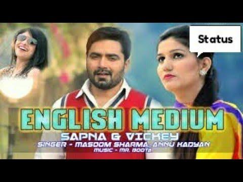 English Medium | Sapna Chaudhary, Vickky Kajla | Masoom Sharma, Annu Kadyan | #Latest_Status