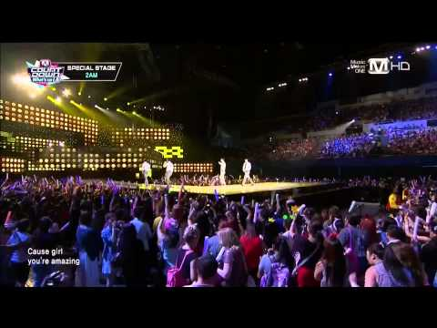 130829 Just The Way You Are + One Spring Day - 2AM @ M! Countdown 'What's Up LA'