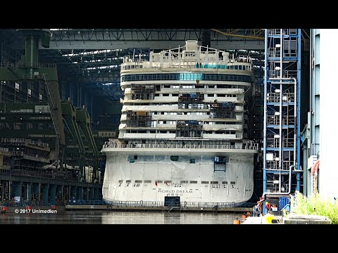 WORLD DREAM 世界夢號 | Exclusive view into the construction dock | 4K-Quality-Video