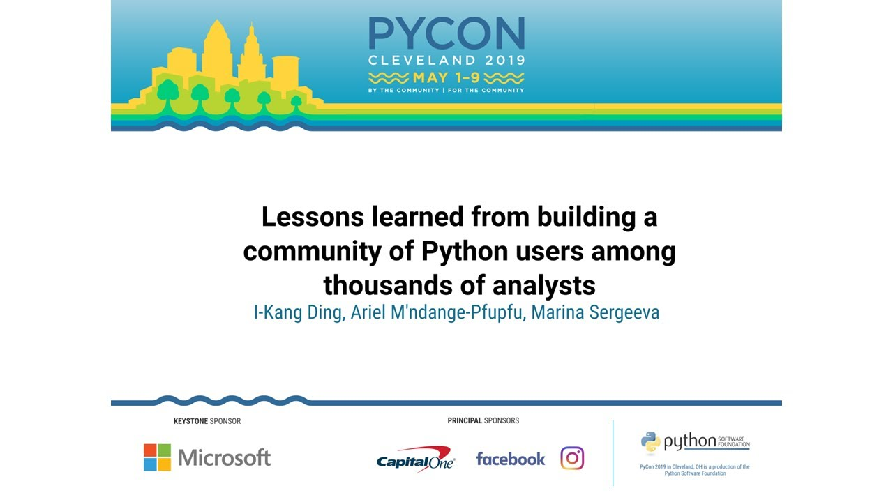 Image from Lessons learned from building a community of Python users among thousands of analysts