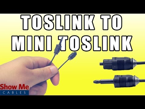 Toslink to Mini Digital Optical SPDIF Audio Cable - Quickly Connect Your Digital Audio Devices