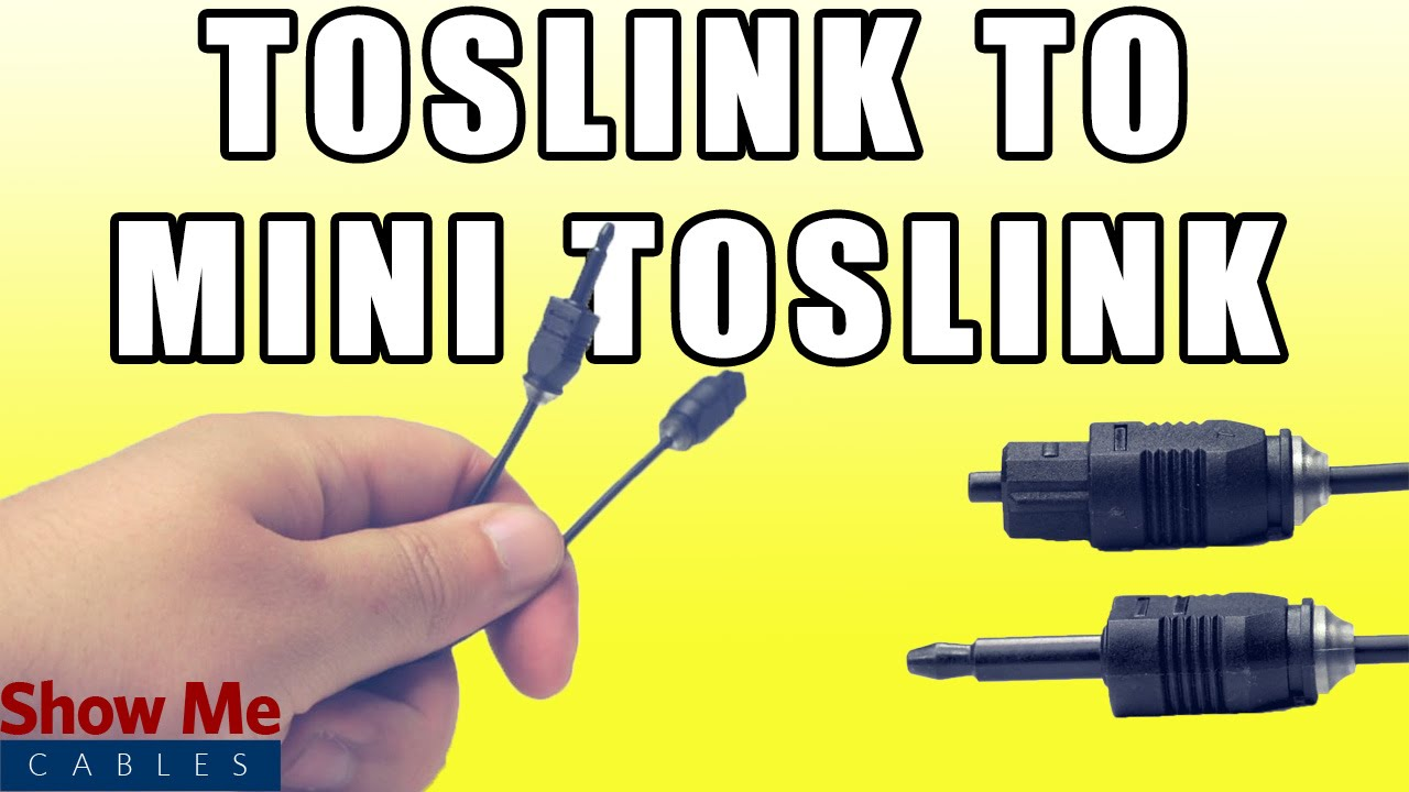 hight resolution of toslink to mini digital optical spdif audio cable quickly connect your digital audio devices youtube