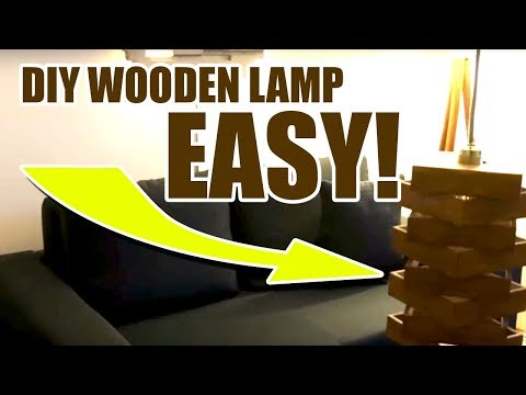 DIY Wooden Table Lamp EASY Wooden Craft Project just do it yourself(DIY) at home