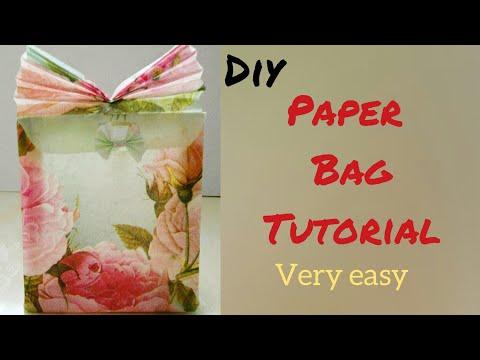 DIY crafts: Paper gift bag/ Paper bag tutorial/ paper gift wrap