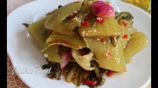 Dưa cải giòn thơm lên màu vàng tự nhiên, cách làm dưa chua truyền thống || Natha Food