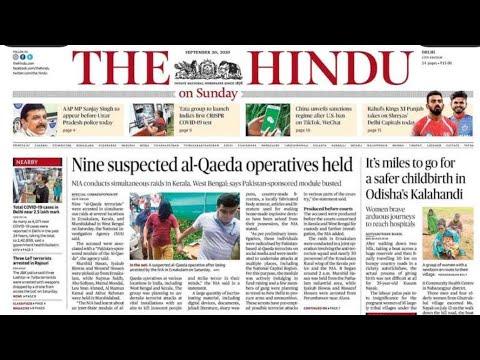 20 September 2020 | The Hindu Newspaper Analysis | Current Affairs 2020 #UPSC #IAS #Todays The Hindu