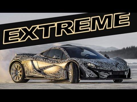 McLaren P1: Test in Extreme Conditions. SNOW - ICE - DRIFT - SOUND