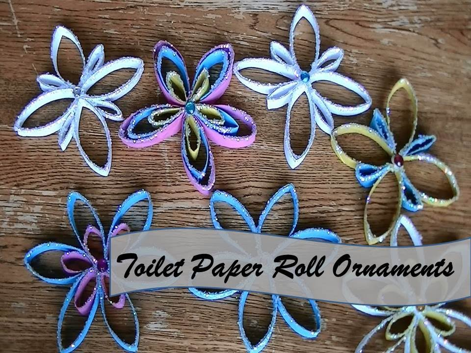 Diy paper towel roll ornaments youtube Toilet paper roll centerpieces